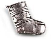 Christmas stocking sock tree pendant  charm     metal   jewelry supplies  findings quantity 4  Z5