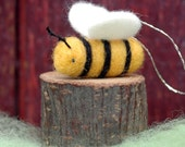 Little Bumble Bee - Needle Felted Ornament