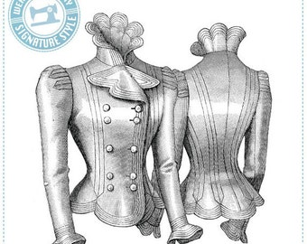 E-Pattern- Sophie- 1899 French Jacket Pattern- Wearing History Victorian PDF Sewing Pattern