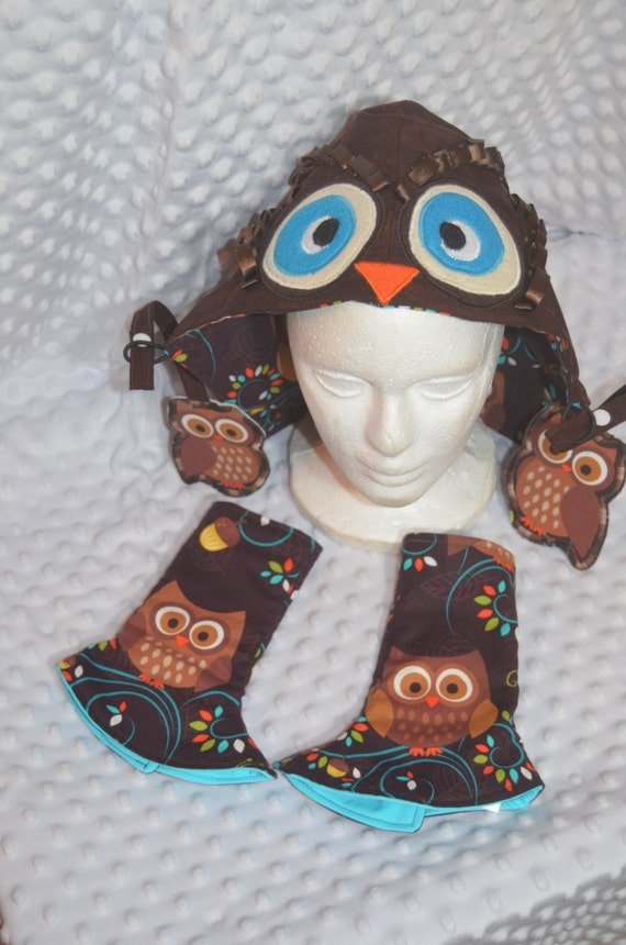 Allister Owl Face BabyWearing Set  fit Tula, Ergo, Beco, SSC