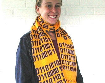 Personalized Binary Scarf - the Digital YOU