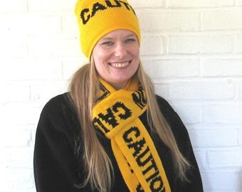 Caution Tape Scarf and Beanie