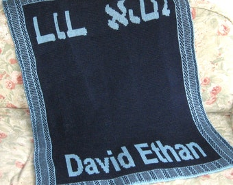 Hebrew Baby Name Blanket