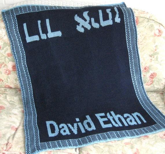 Hebrew Baby Name Blanket
