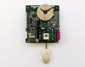 Recycled Computer Motherboard Pendulum Clock