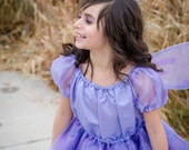 Cute girls Lavender Fairy Pixie Princess costume dress.  NEW