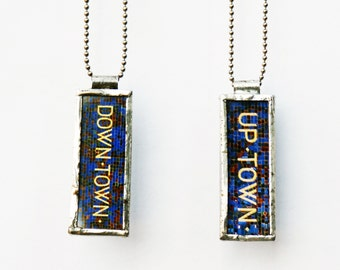 SUBWAY MOSAIC PENDANT - Photo Pendant - Uptown Downtown