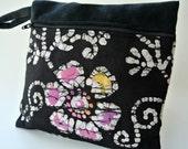 Black Makeup Bag , Cosmetic Pouch , Flower Clutch , Floral Makeup Bag , Makeup Storage Bag , Pretty Pouches , Pouches , Cosmetic Storage