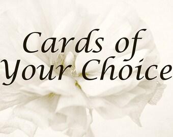 Photo Cards of Your Choice, Fine Art Photography, Blank Card, Flower Card, Floral Card