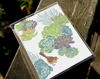 Birds in Gardens Boxed Assortment #2 - 8 cards