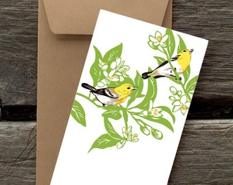 Vireos -- 8 Blank flat cards and envelopes