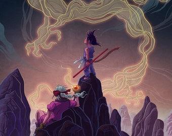 The Journey Begins - Dragonball Print