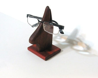 Eyeglass Holder Made Of Mahogany And Padauk Woods