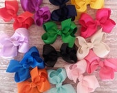 Baby Hairbows Boutique Baby Hair Bow Clips / 1.00 baby bows - 12 Bows