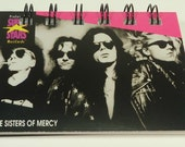 The Sisters Of Mercy Trading Card #236 Repurposed, Recycled, Upcycled Into A Spiral Bound Notebook