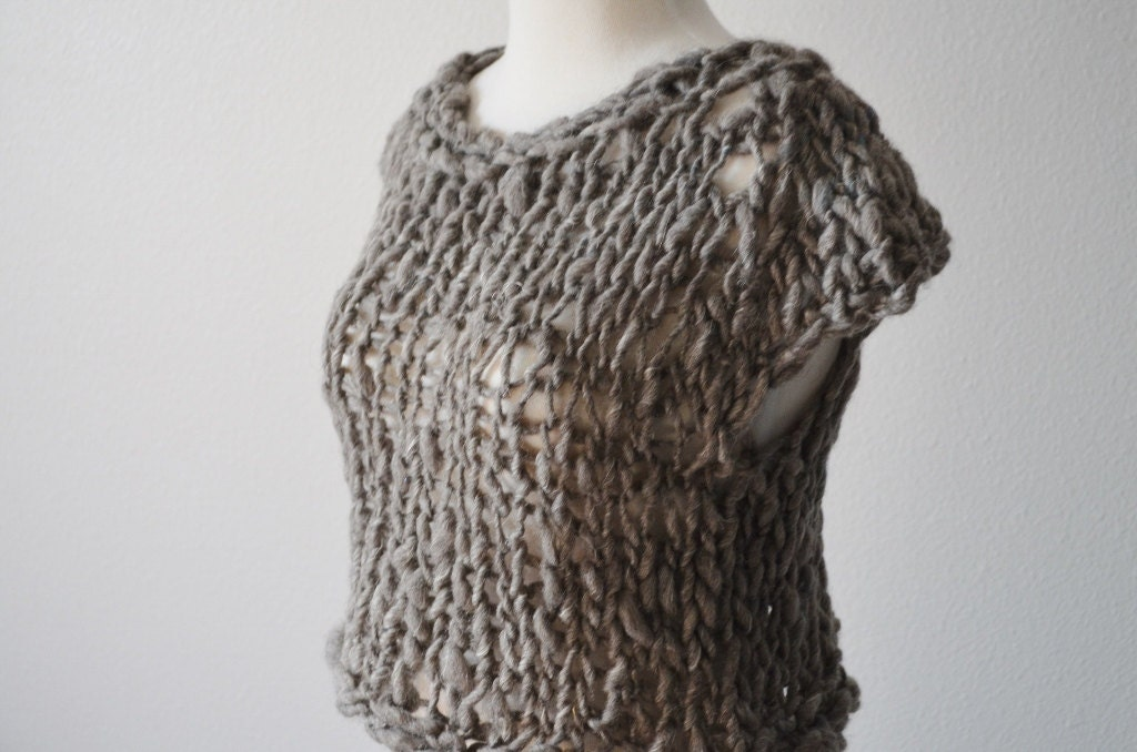 Women S Post Apocalyptic Cropped Sweater Vest Loose