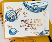 Space and Time Letterpress and Foil Card
