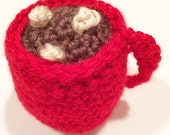 Crochet ornement de chocolat chaud
