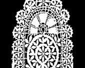Tatting 6x6 Crafters Workshop Stencil (524S) - For cookies, cake, cardmaking, mixed media, paper-arts, chalking, scrapbooks
