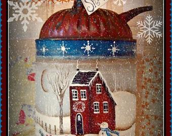 Apple Tree Cottage Original Design E Pattern  - Winter Snow