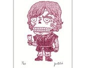 Tyrion Lannister Calavera Limited Edition Gocco Screenprint Day of the Dead Art