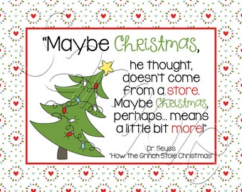Printable Grinch Movie Quote Wall Art 8x10