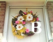 Spring  Wreath / Daisy Wreath / Easter Wreath / Front Door Wreath / Wreaths