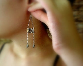 Boho Ladder Earrings - Bohemian Chic - Textured Mixed Metal Beads - Everyday Earrings - Perfect Gift For Girlfriend - Birthday