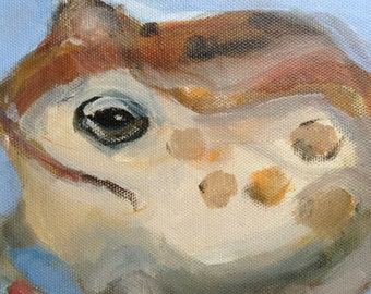 Original Painting of a Toad