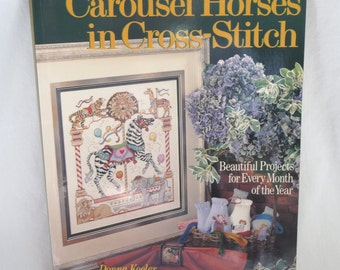 Carousel Horses in Cross Stitch, Sewing Patterns, Monthly Patterns, Donna Kooler, Sewing Supplies, Horses,Beautiful Pictures,Detailed Charts