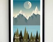 Visit Alderaan Travel Poster