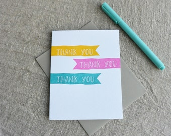 Letterpress Thank You Greeting Card