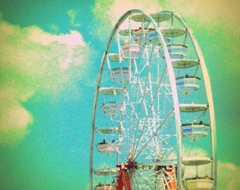 Country Fair Ferris Wheel #2 - Nostalgic Vintage Style Nursery Decor - Original Color Photograph by Suzanne MacCrone Rogers