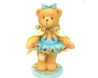 "Circus Cherished Teddies, Claudia Bear in Tutu & Cape, Vintage 1995, ""You Take Center Ring with Me"" P. Hillman, Enesco, Collectible Bear"