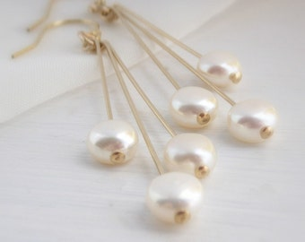 Modern coin pearl earrings, freshwater coin pearls, gold filled or sterling silver dangle earrings, coin pearl earrings, gold earrings