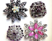 4 Jeweled Magnets. Large Fancy Neodymium-PURPLES
