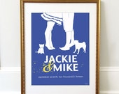 Wedding Gift, Dog wedding sign, Wedding Gift Ideas for Couples, Special Date Art, Custom Portrait