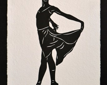 Sale 20% Off // WENDY WHELAN - Hand-Cut Silhouette, Ballet Papercut // Coupon Code SALE20