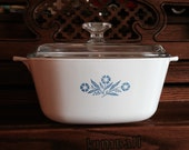 Corning Ware Cornflower Blue 8-1/2 inch Casserole Dish with Lid