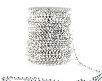 Ball chain, nickel plated