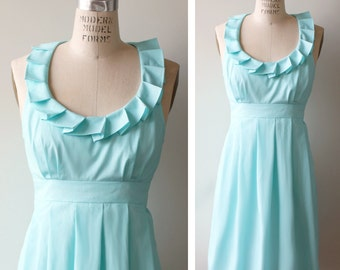 Bridesmaid Dress, Aqua, Made To Order (more colors available)