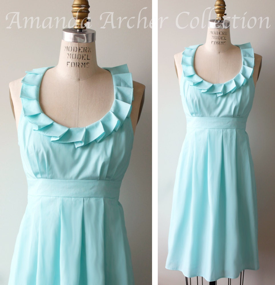 Bridesmaid Dress Aqua Made To Order more colors by AmandaArcher