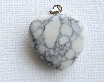 2 x Stone Heart Pendants