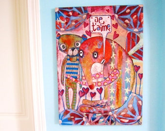 Friends Forever (Original Painting) 50x70cm
