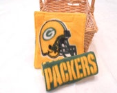 Seat Belt Covers Car Seat Covers Green Bay Packers Football - READY MADE