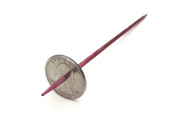 Modern Coin Takhli Support Spindle Washington Quarter Supported Spinning of Handspun Lace Yarn or Thread - like Russian or Tibetan or Tahkli