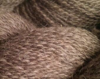 Perfectly Lovely Brown Moorit Shetland Romney Wool Yarn