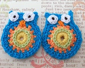 Crochet Owls in Blue