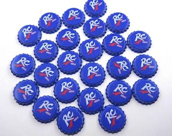 Vintage Blue RC Cola Bottle Caps Set of 25
