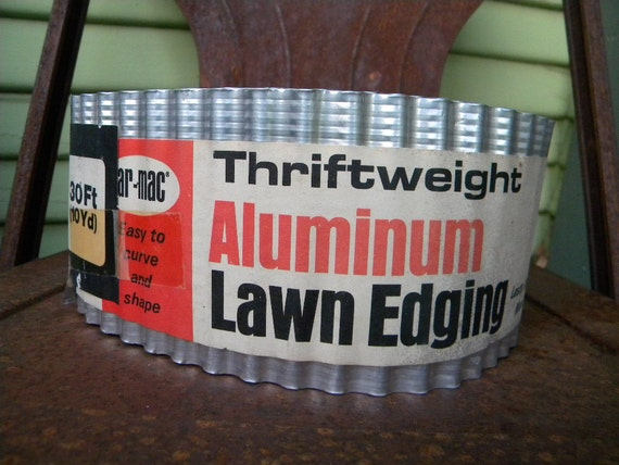 one 30 foot roll of aluminum lawn edging atomic ranch style mid